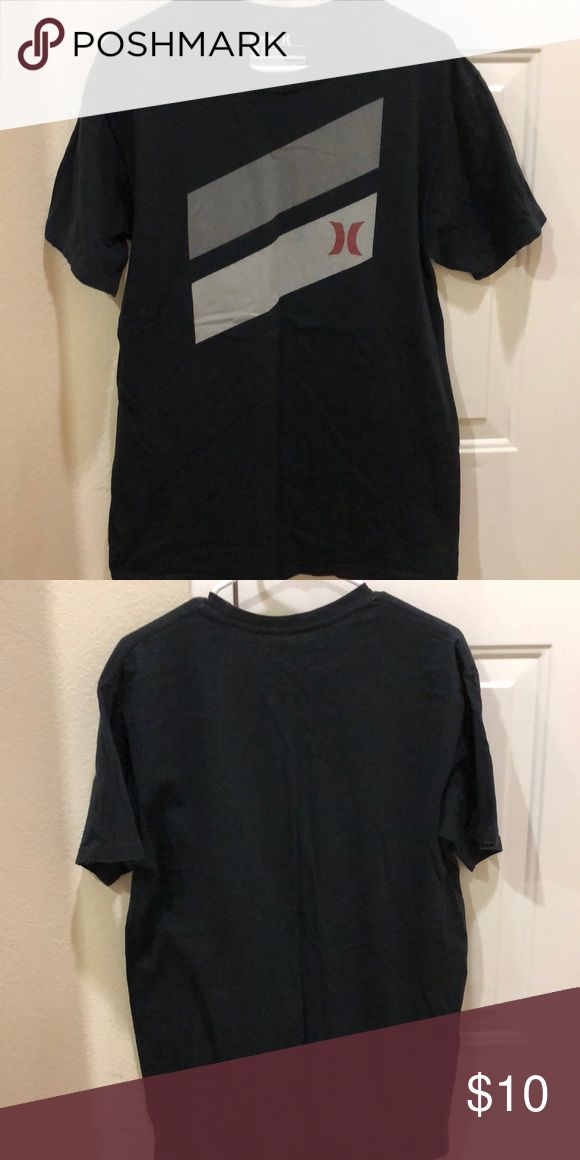 Men's Hurley shirt Men's Hurley shirt. Black with gray and red design on front. Hurley Shirts Tees - Short Sleeve