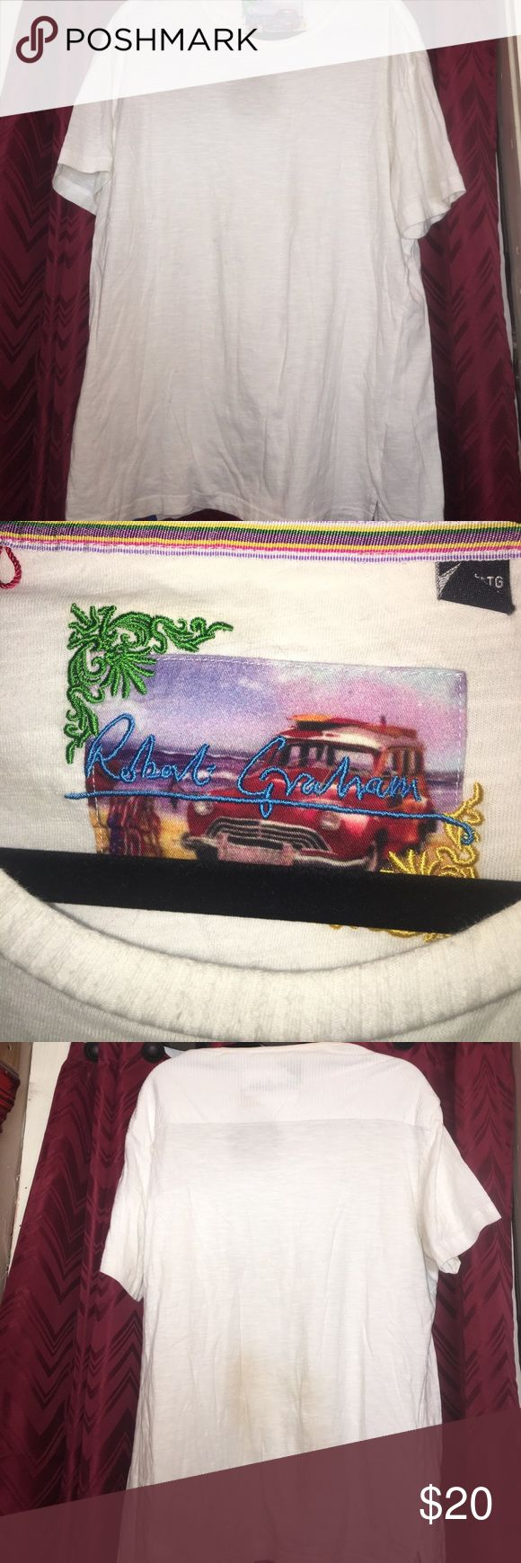 2XL Robert Graham white Tee no stains Great tee 100% cotton. Check out my other mens items Robert Graham Shirts Tees - Short Sleeve