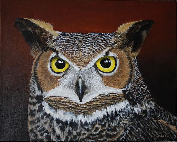 Great Horned Owl Print By Sid Ball