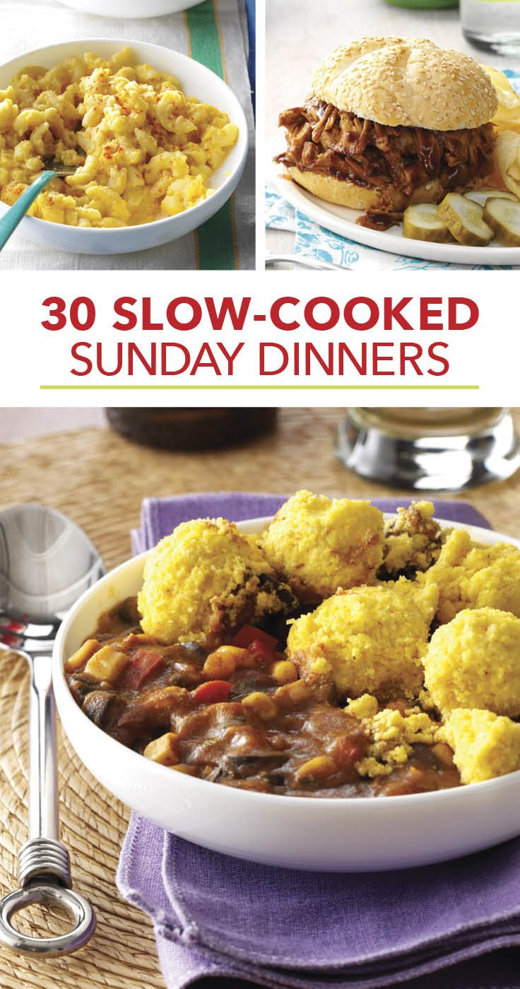 30 slow cooked sunday dinners sunday dinner recipes sunday dinners