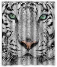 """Witte tijger custom waterdichte douchegordijn 60/72 """"gratis verzending(China (Mainland))"""