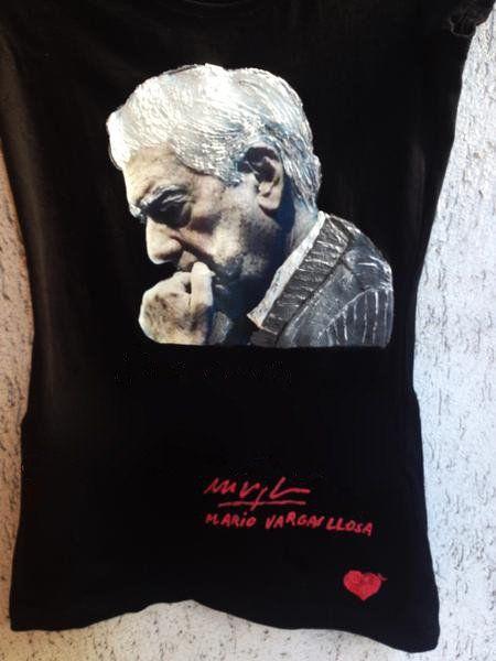 MARIO VARGAS LLOSA Camiseta Pintada T-shirt
