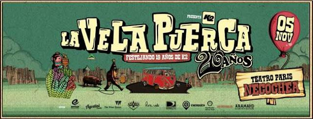 LA VELA PUERCA FESTEJA SUS 20 AÑOS DE TRAYECTORIA EN NECOCHEA   La Vela Puerca festeja sus 20 años de trayectoria en Necochea  La banda uruguaya de rock vuelve a nuestra ciudad el próximo sábado 5 de noviembre a repasar su historia en la música.  La cita será en el Teatro París cuyas entradas anticipadas están a la venta en el local de Aramaio Computación (calle 61 Nº 3079) y a través de Internet en www.velaentradas.com. Cabe resaltar que los tickets físicos que solo se venden en Aramaio…
