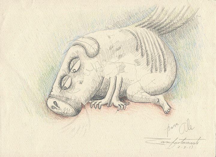 En el año 2013 publiqué una edición limitada y firmada de «El Cerdo Volador», he creado este blog para compartir mis poemas, cuentos y recuerdos de este cuaderno ilustrado donde el humor y amor abrazarán al lector.