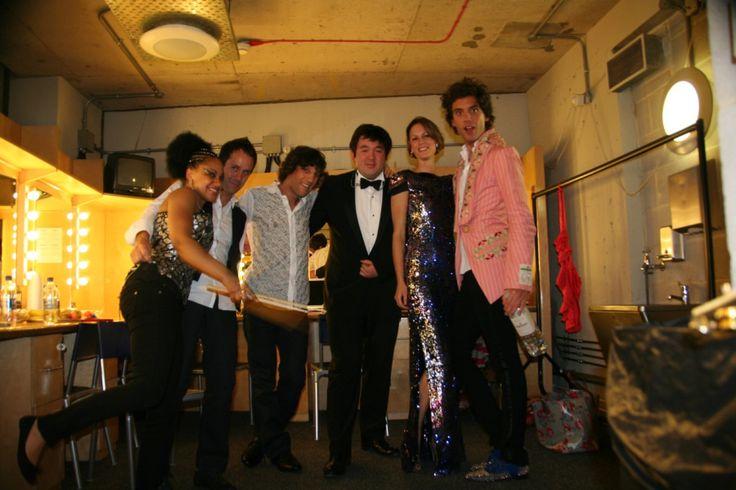 Mika and band: Cherisse Ofusu-Osei, Martin Waugh, Dan Rothchild, Alexander Millar, Ida Falk-Winland