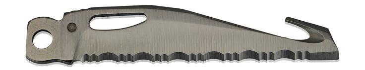 Herramienta: Navaja Serroteada + Corta Cinturones (SERRATED BLADE + BELT CUTTER) Marca: Leatherman Modelo: CHARGE Este formato de navaja (con cortes 1+2) es muy util, y en el modelo Charge incorpora un cortador de cinturones.