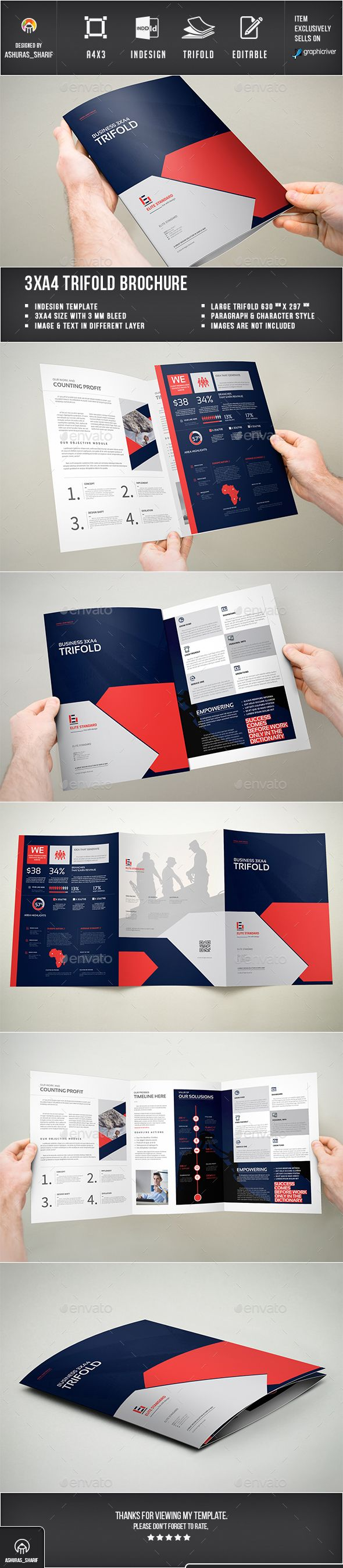 Trifold Brochure Template InDesign INDD. Download here: http://graphicriver.net/item/trifold-brochure/16061827?ref=ksioks