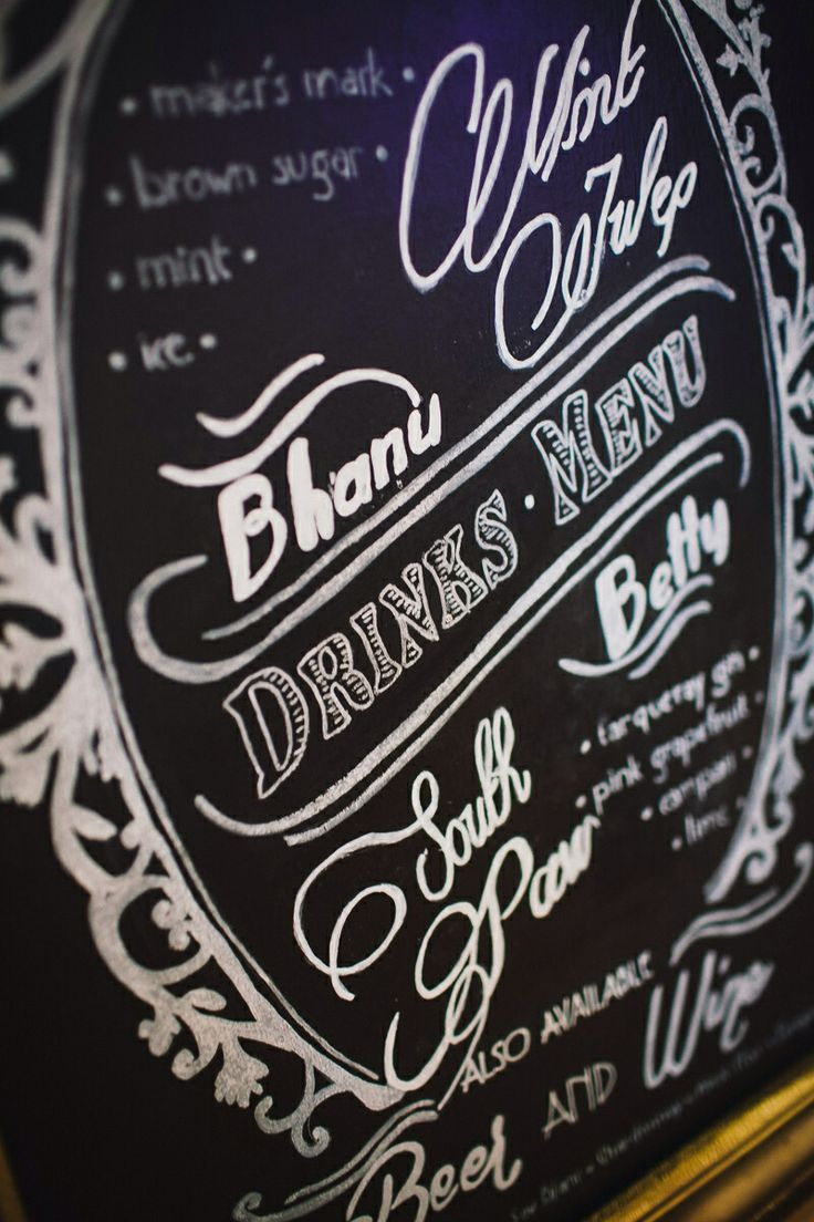 Cocktail blackboard