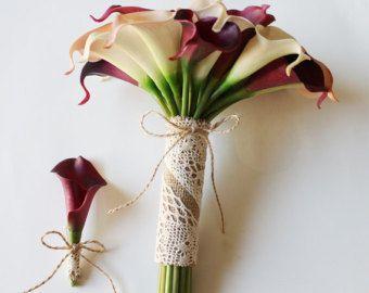 Orchid Bouquet  tacto verdadero lirio ramo de novia  ciruelo