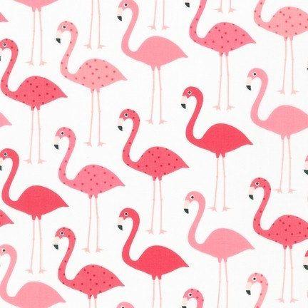 Flamingo tissu - collection Urban Zoologie par Ann Kelle - Robert Kaufman. Flamants roses roses et lumière chaudes. 100 % coton. AAK-14719-111