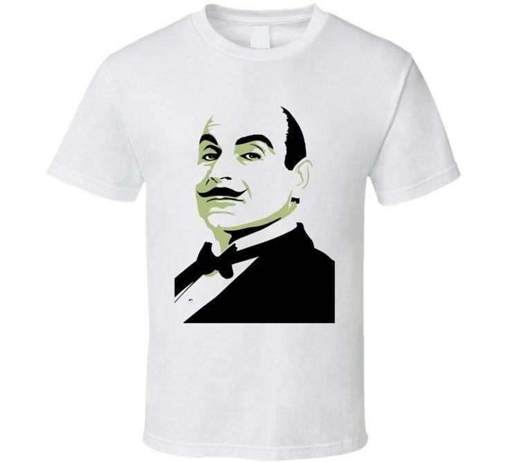 Hercule Poirot Detective Agatha Christie Mystery T Shirt