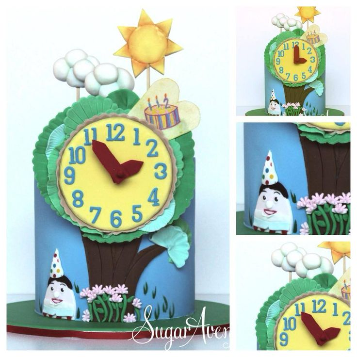 Play School Clock.. The perfect cake for any Australian 1 year old. The clock was interactive, the hands could rotate and tell the time :)