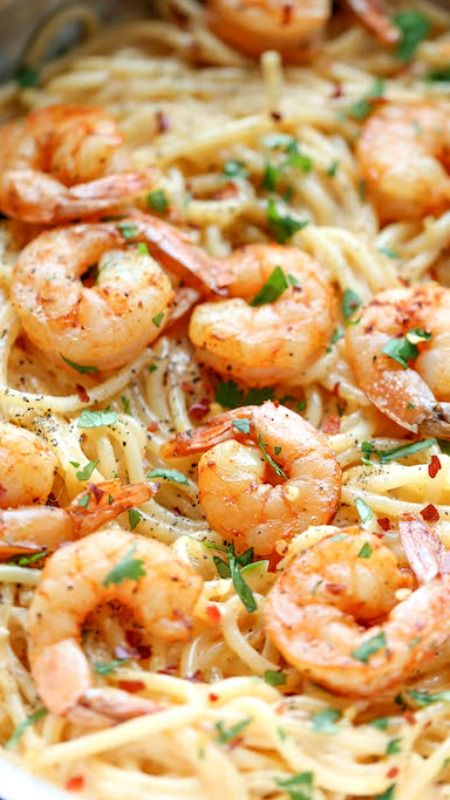 Bang Bang Shrimp Pasta ~ The favorite bang bang shrimp is turned into the creamiest, easiest pasta dishes of all!