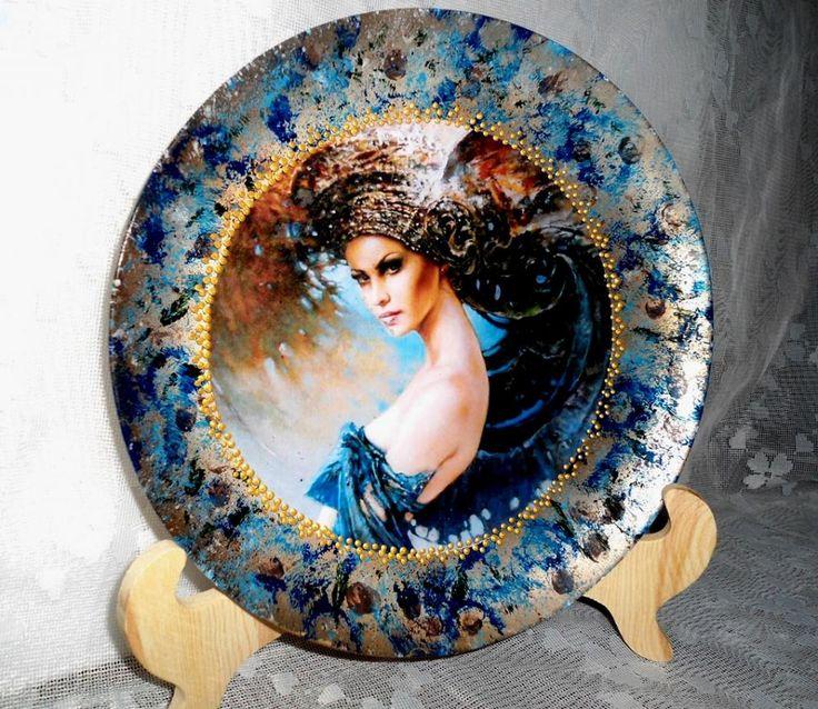 Декупаж - Сайт любителей декупажа - DCPG.RU | Опять тарелка Click on photo to see more! Нажмите на фото чтобы увидеть больше! decoupage art craft handmade home decor DIY do it yourself plate