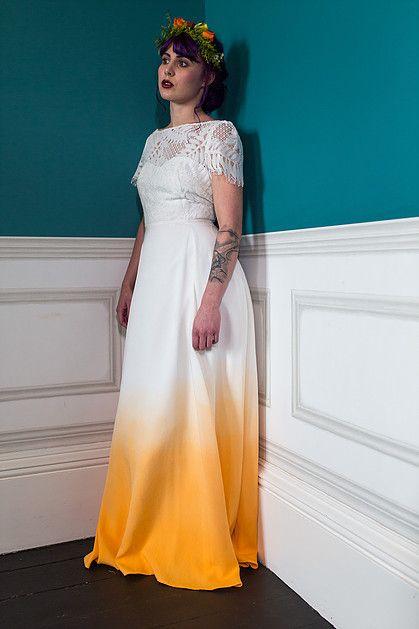 3b8c4de29b0806 Dip dye coloured wedding dress Ziggy by Lucy Can't Dance sold exclusively  through RTF Essex & Berkshire