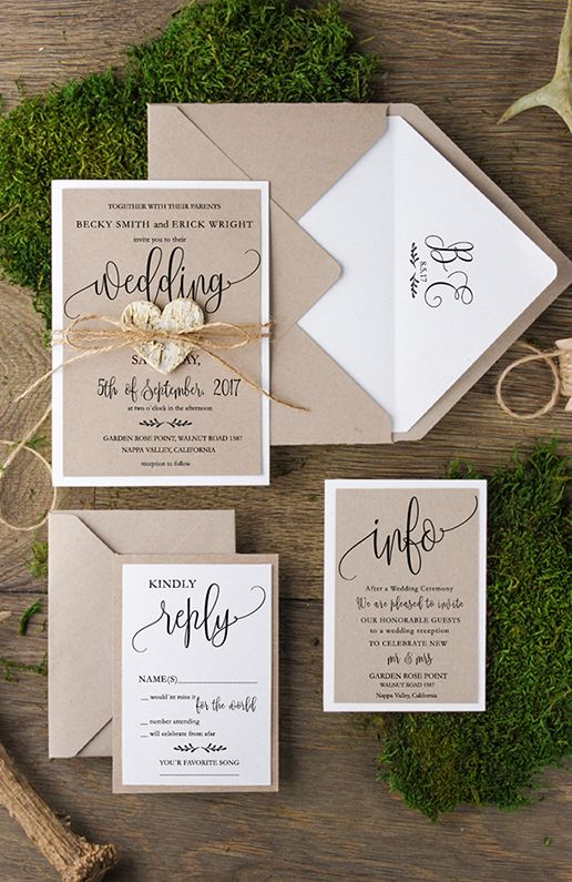 Super cute customizable wedding invitations from @4LOVEPolkaDots