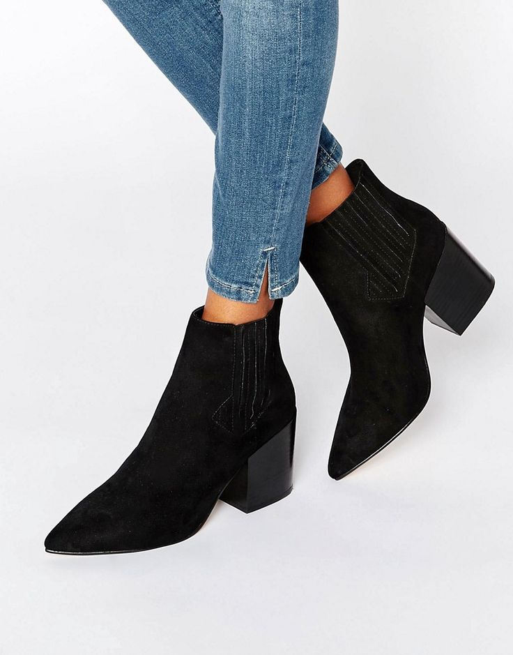 Image 1 of ASOS ELLIOT Pointed Chelsea Ankle Boots