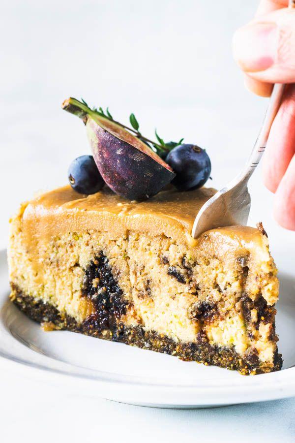 Fig And Pistachio Vegan Cheesecake Recipe Vegan Dessert Recipes Vegan Desserts Vegan Cheesecake