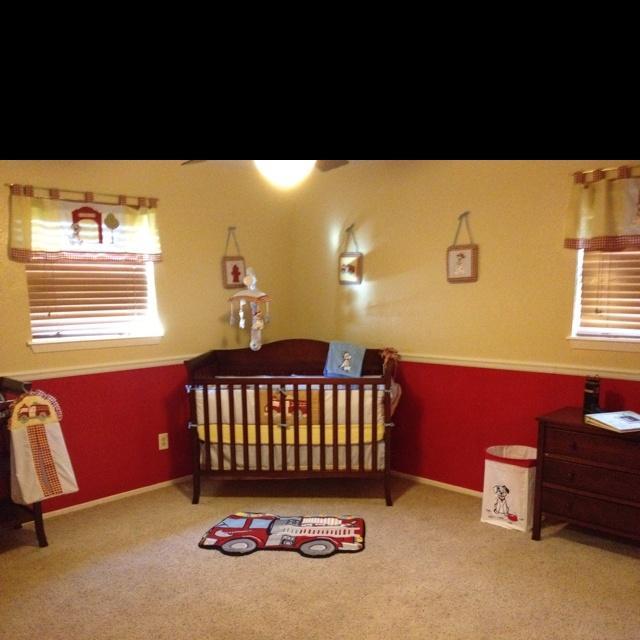 Firefighter Nursery Baby Nursery Kid Rooms Pinterest