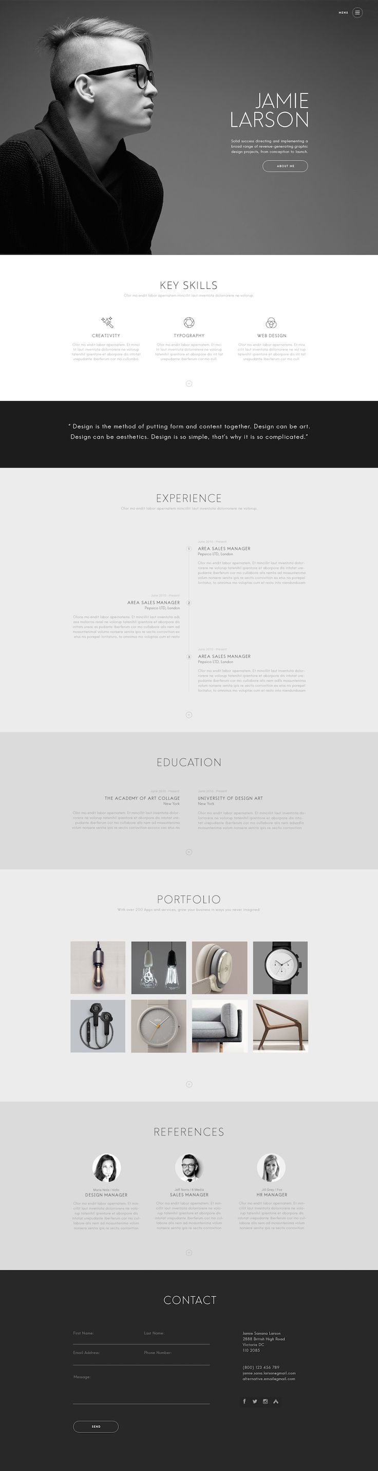 Designer is a polished resume theme thatu0027s