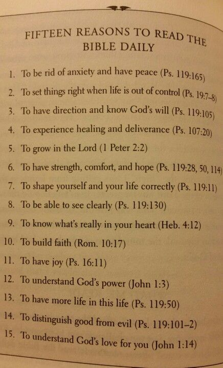 15 Reasons( but there are much much more)  to read the Bible daily