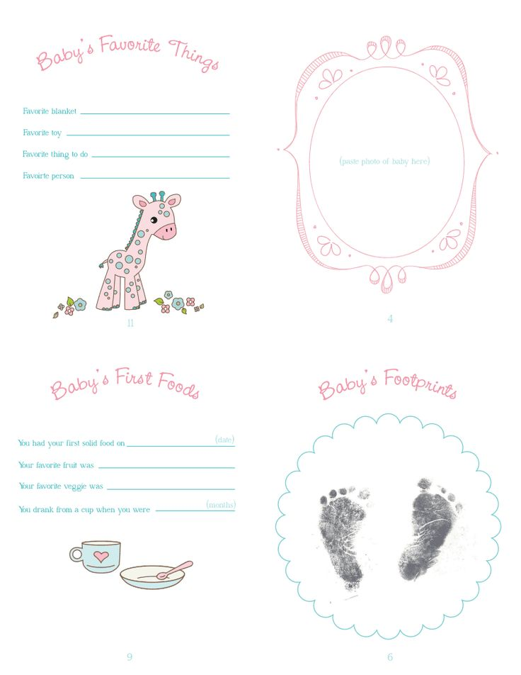free printable baby book templates - baby book p2 free templates 3d printables