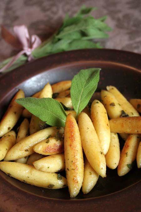 The Best German Schupfnudeln Potato Dumpling Recipe   Foodal.com **buckwheat flour and add parsley