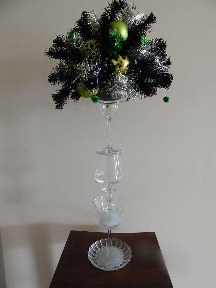 Glass Christmas table decorations