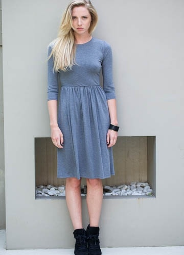 Westbourne Dress, Charcoal  Casson London