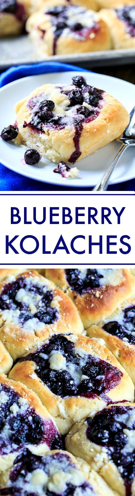 How to make homemade Blueberry Kolaches.