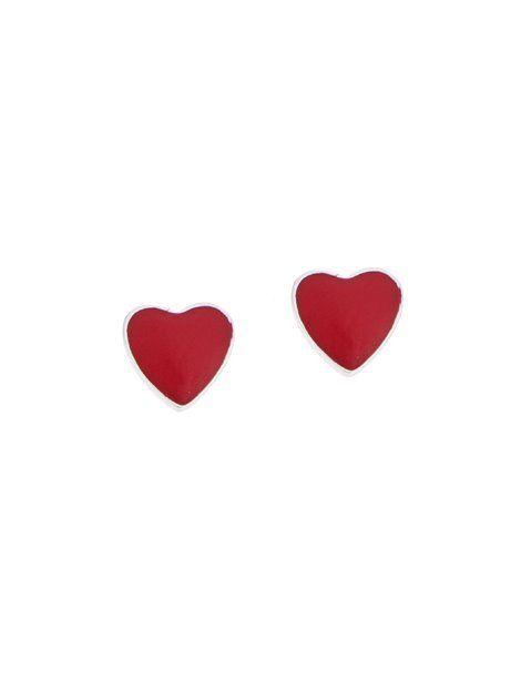 Παιδικά Σκουλαρίκια Ασημένια 925 σε Λευκό Χρώμα με Σμάλτο Αναφορά 019962 Ένα ζευγάρι παιδικά σκουλαρίκια που μπορείτε να χαρίσετε σε ένα κορίτσι από Ασήμι 925 σε λευκό χρώμα.Τα στοιχεία μας διακοσμούνται με σμάλτο σε χρώμα κόκκινο.