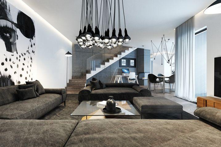 D coration salon avec grand tableaux grand tableau for Architecture 770