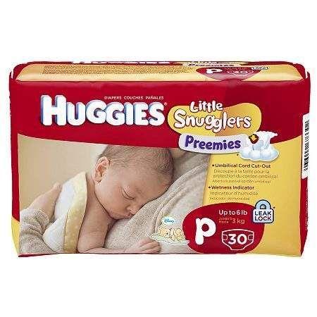 Huggies Little Snugglers Diapers Preemies - 30 ea
