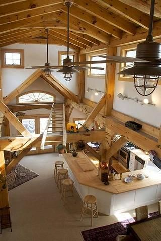 open plan barn. Perfect for ski home