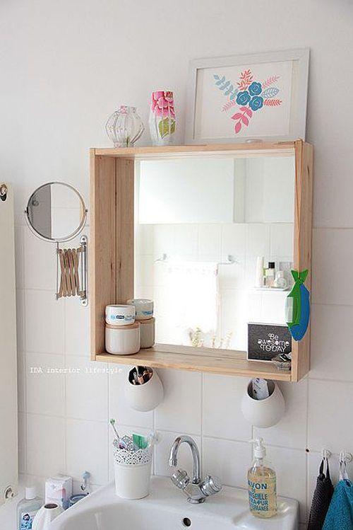 espejo renovado en el baño