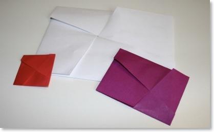 enveloppe-étoilée - faire une enveloppe en pliage