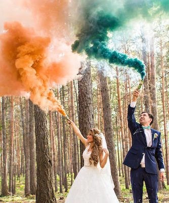 These weddings are the bomb! #SmokeBombs #Wedding #TieTheKnot