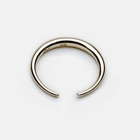 Gabriela Artigas — Infinite Tusk Ring 10 K Yellow Gold — THE LINE