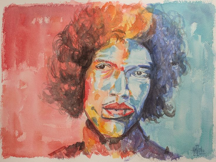 Tributo a Voka en Acuarela - Jimmy Hendrix Trubte to Voka in Watercolor - Jimmy Hendrix HMZEN'14