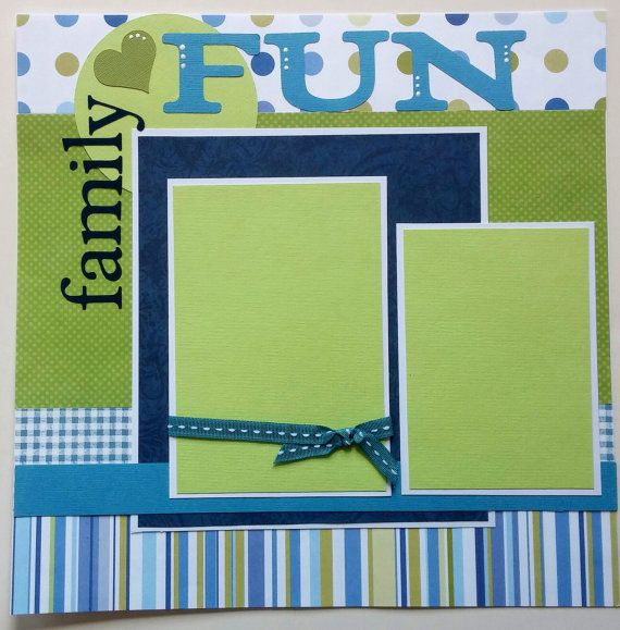 Family scrapbook page - Premade family scrapbook - 12x12 premade scrapbook pages family - Vacation scrapbook - Premade scrapbook layout page