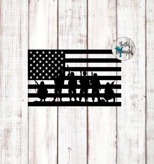 American Flag And Soldiers Free Svg File Home Free Svg