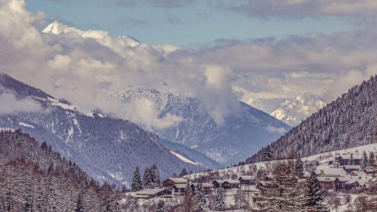 Montagnes, La Neige, Suisse, Nuages, Ciel, Paysage
