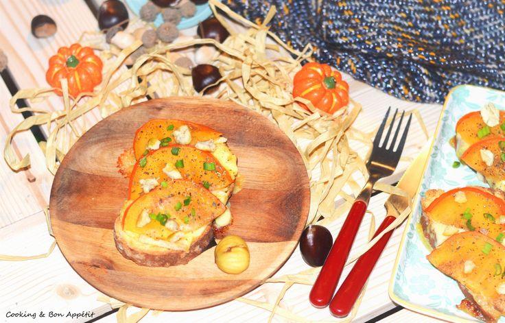 Tartine reblochon, kaki et châtaigne {Foodista Challenge #34}   Cooking & Bon appétit