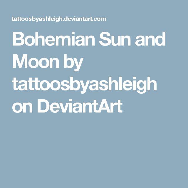 Bohemian Sun and Moon by tattoosbyashleigh on DeviantArt