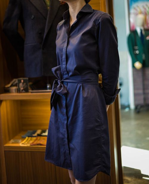 bntailor:  Navy cotton One- Piece for Woman