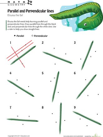 Worksheets Geometry Parallel And Perpendicular Lines Worksheet 113 best images about polygons and lines on pinterest geometric line logic parallel perpendicular 2