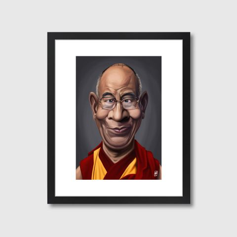 Celebrity Sunday - Dalai Lama | Monde Mosaic art | decor | wall art | inspiration | caricatures | home decor | idea | humor | gifts