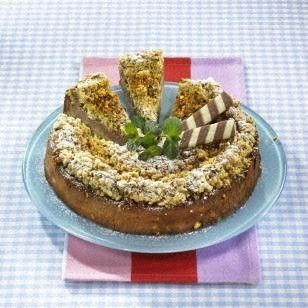 Streuselkuchen mit Nuss-Nougat-Creme