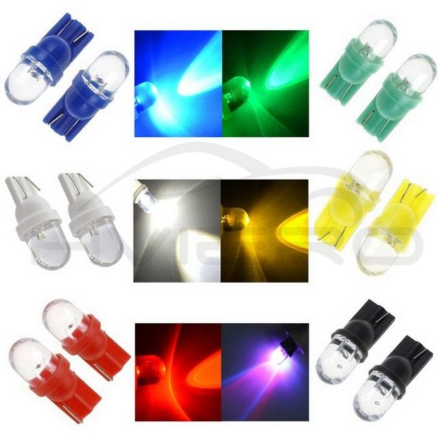Universal White Dome LED Parker Xenon HID Cool Lights Bulbs T10 194 168 Wedge
