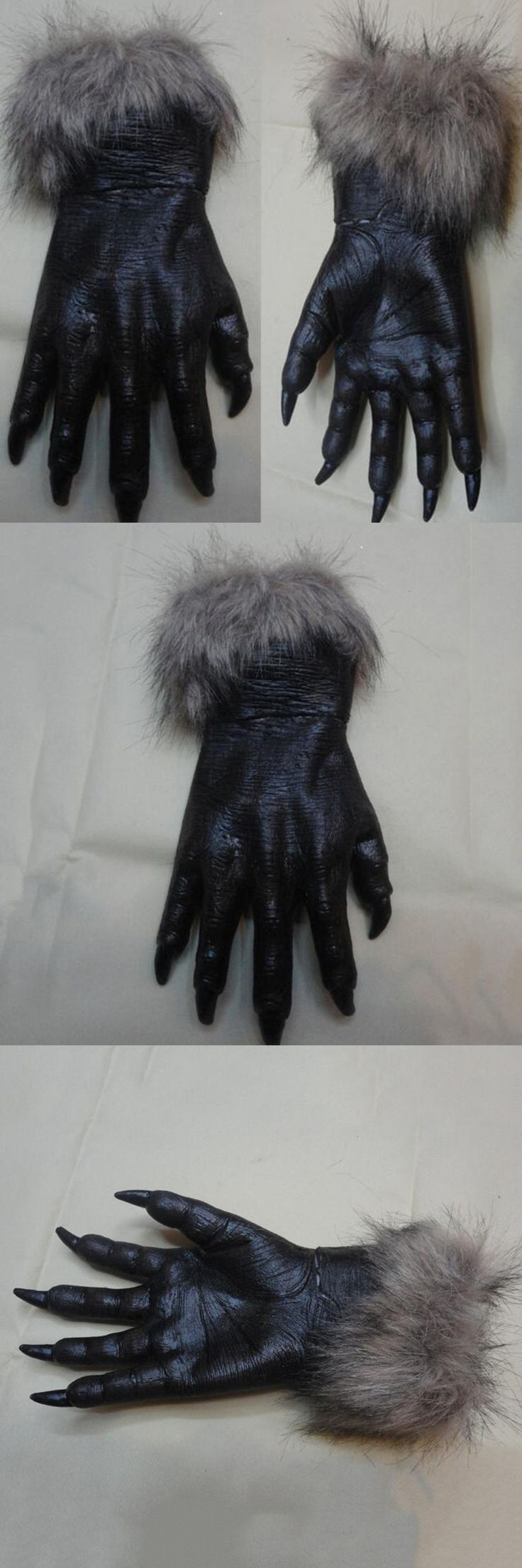 Hot! New Arrivals Werewolf Black Wolf Paws Claws Cosplay Gloves For Halloween Party Costume Accessory Women Men Masquerade